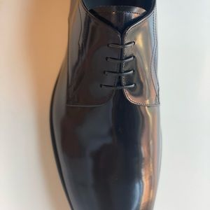 Classic Armani leather shoes, sizes 10 & 10,5 in black color, handmade in Italy